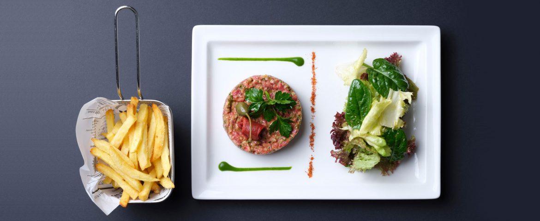 steack frite salade revisité restaurant steinfort