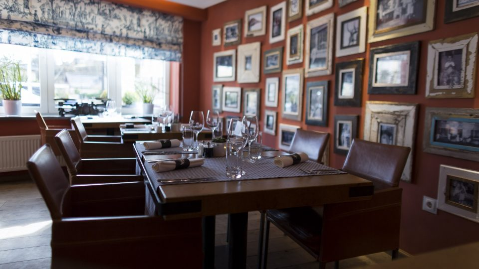 ambiance intérieure feutrée - restaurant la table de Frank restaurant steinfort