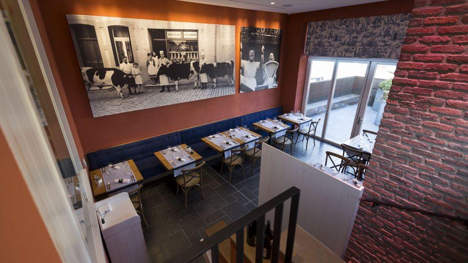Vue plongeante de la salle - restaurant la table de Frank restaurant steinfort
